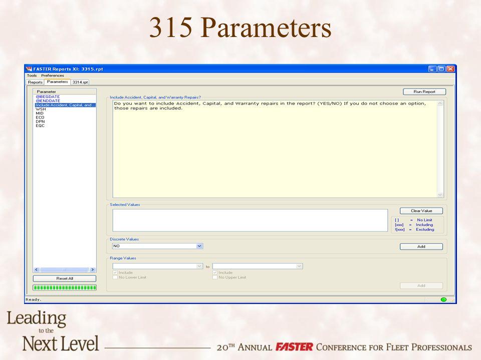 315 Parameters