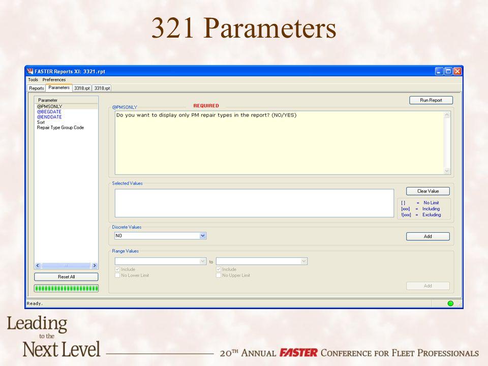 321 Parameters