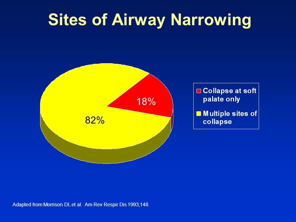 Sites of Airway Narrowing Adapted from Morrison DL et al. Am Rev Respir Dis 1993;148. 18% 82%