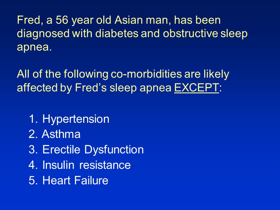 Question 1 What is the definition of obstructive sleep apnea.