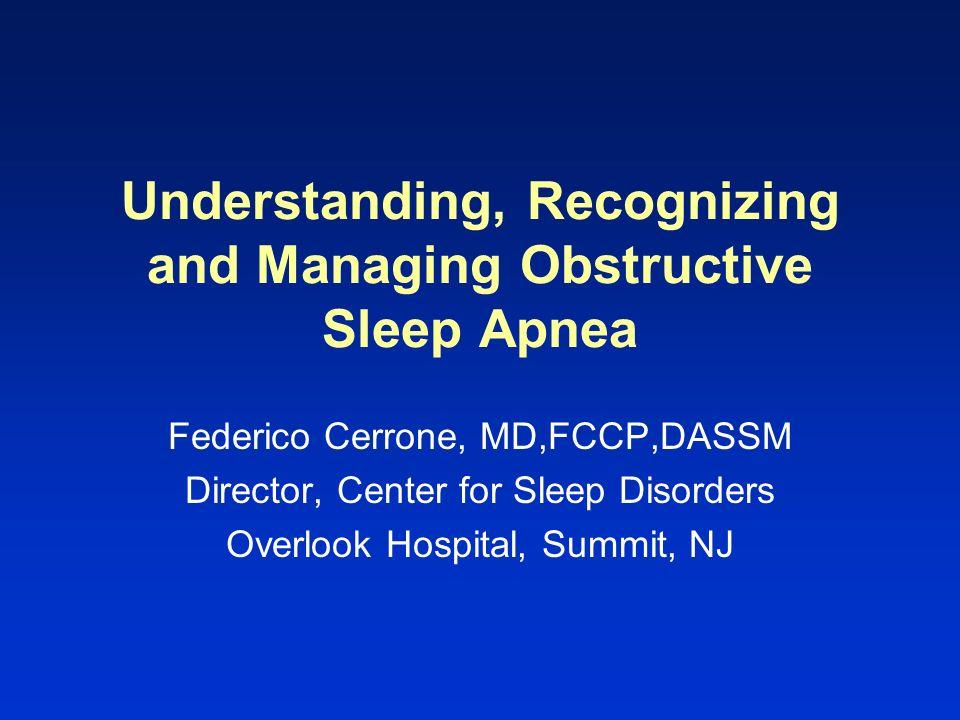 Measures of Sleep Apnea Frequency Apnea Index –# apneas per hour of sleep Apnea / Hypopnea Index (AHI) –# apneas + hypopneas per hour of sleep