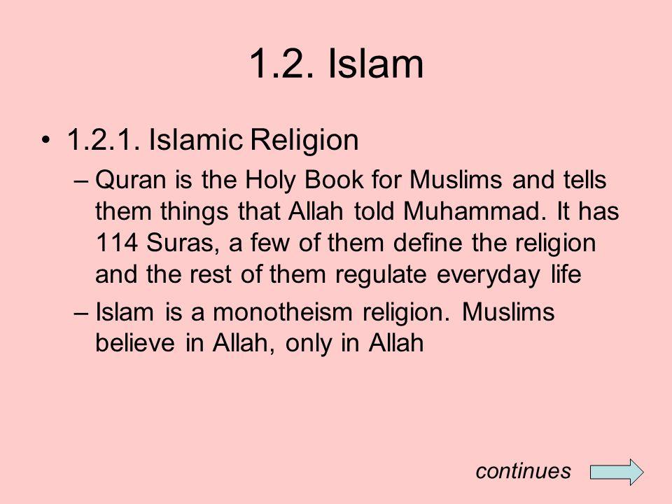 1.2. Islam 1.2.1.