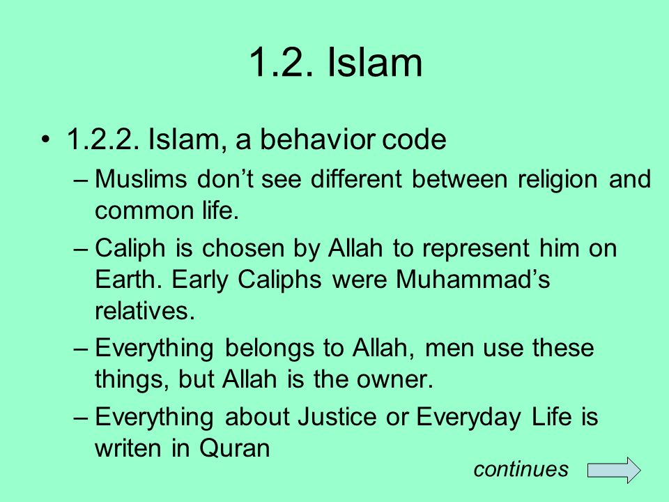 1.2. Islam 1.2.2.