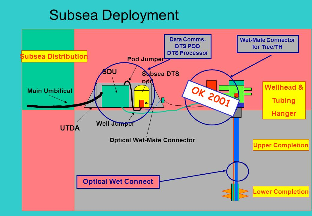 Subsea Deployment Optical Wet-Mate Connector SDU Subsea DTS pod Main Umbilical SCM Well Jumper Upper Completion Lower Completion Subsea Distribution W