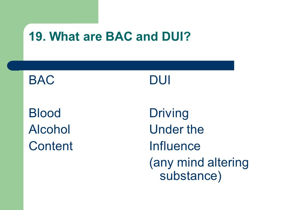 18. Each year, what percentage of all fatal crashes involve alcohol? 50%