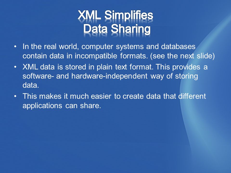 In the real world, computer systems and databases contain data in incompatible formats.