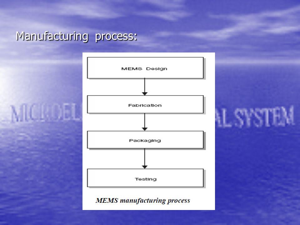 Manufacturing process: