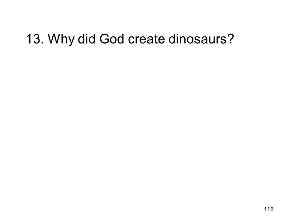 116 13. Why did God create dinosaurs?