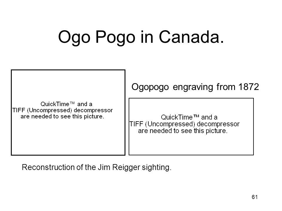 61 Ogo Pogo in Canada. Ogopogo engraving from 1872 Reconstruction of the Jim Reigger sighting.