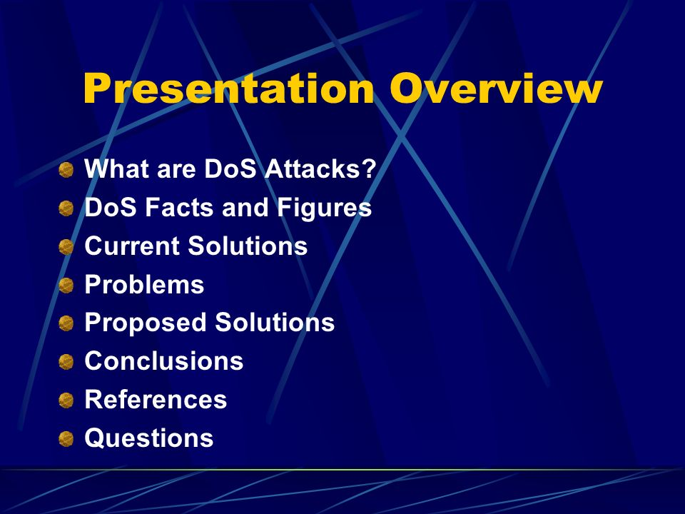 What are DoS Attacks.