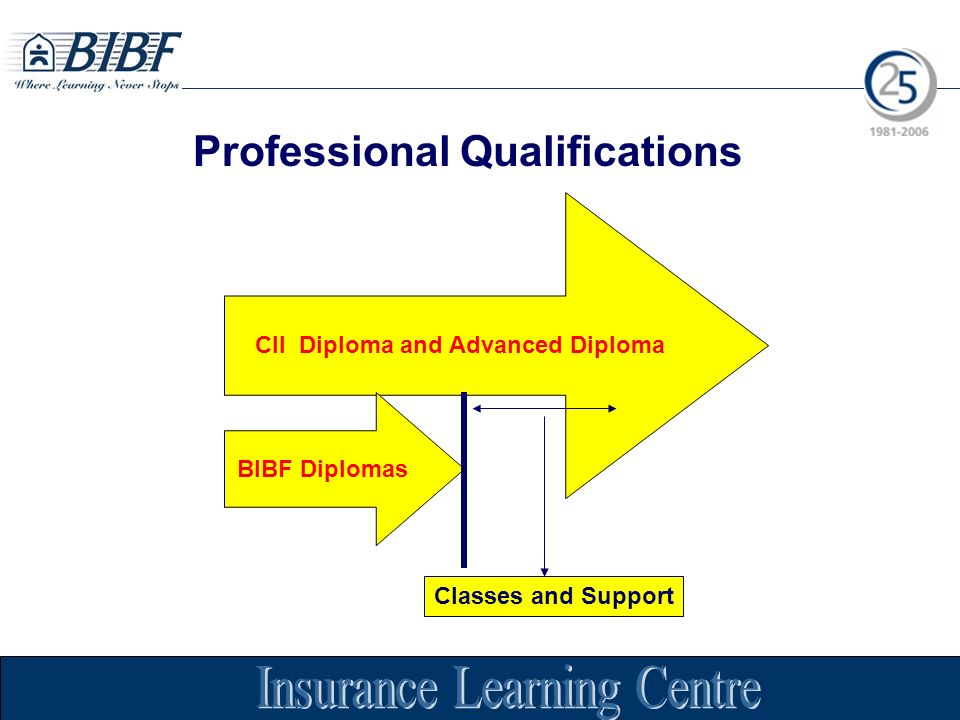 Professional Qualifications CII Diploma and Advanced Diploma BIBF Diplomas Classes and Support