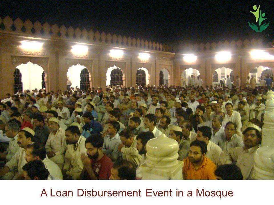 A Loan Disbursement Event in a Mosque