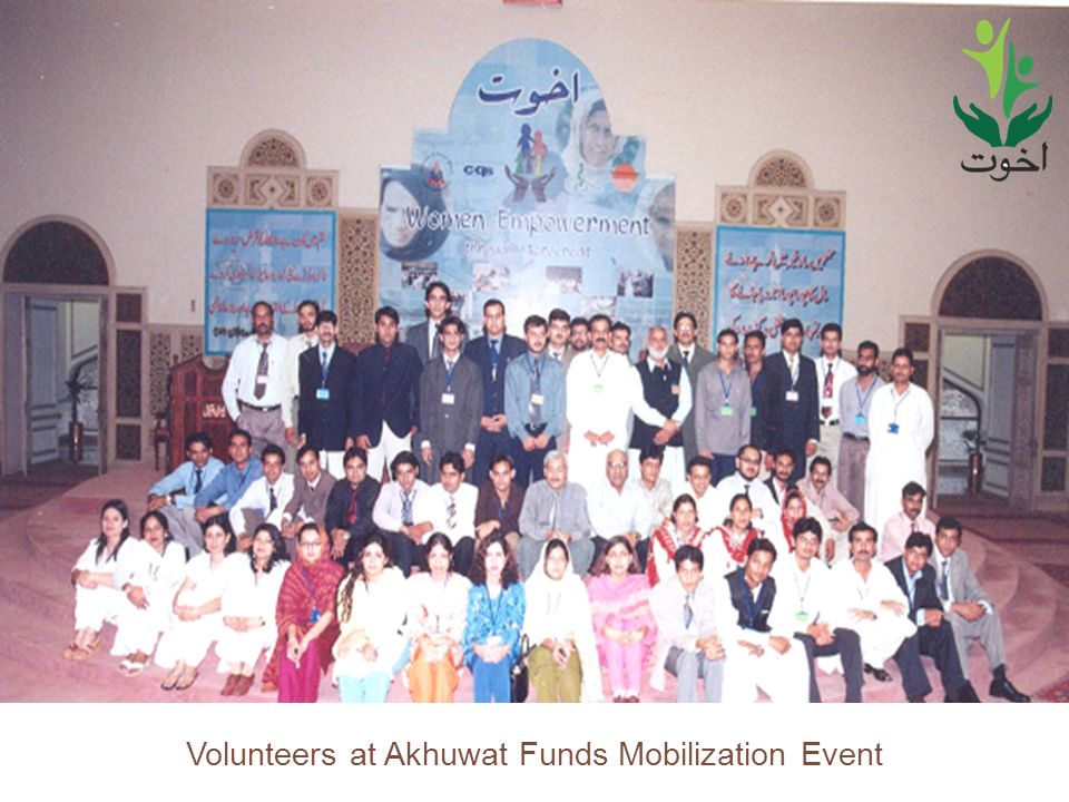 36 Volunteers at Akhuwat Funds Mobilization Event