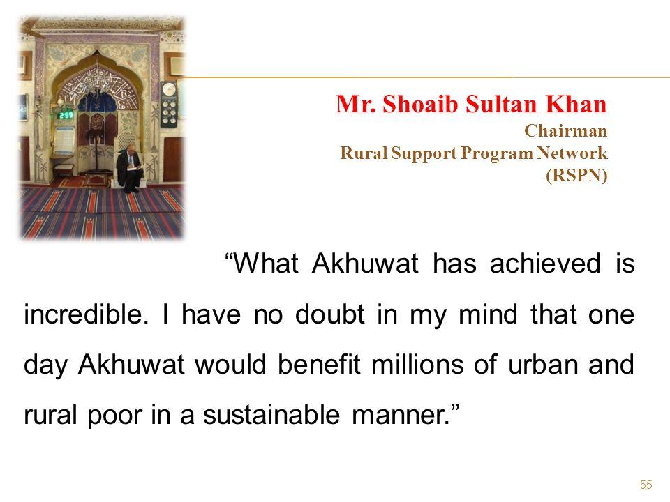 55 Mr. Shoaib Sultan Khan Chairman Rural Support Program Network (RSPN)