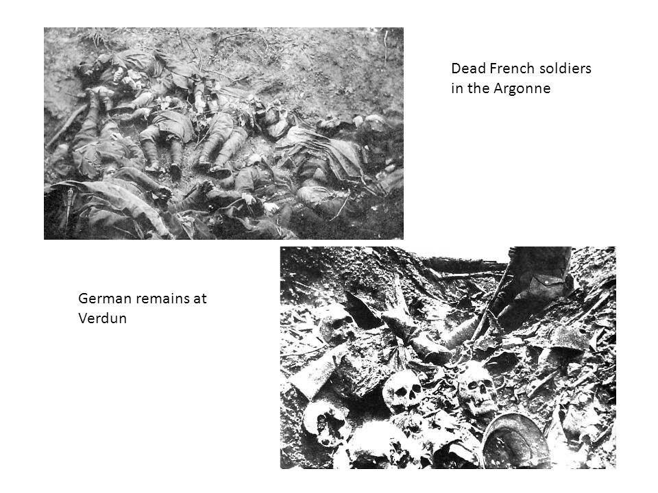German remains at Verdun Dead French soldiers in the Argonne