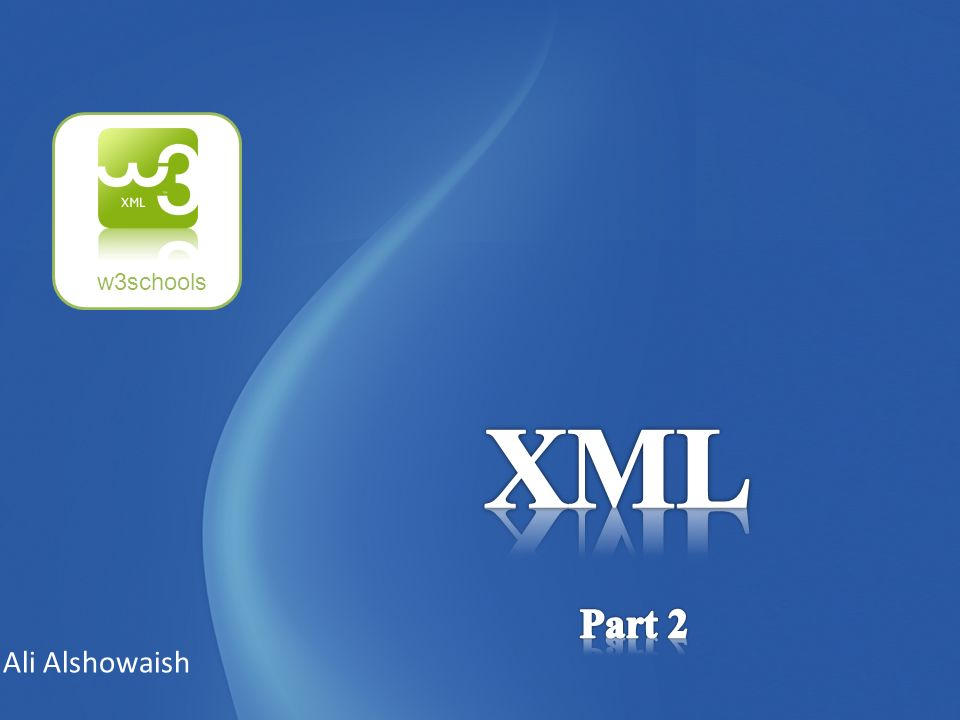 XML documents use a self-describing and simple syntax: The first line is the XML declaration.