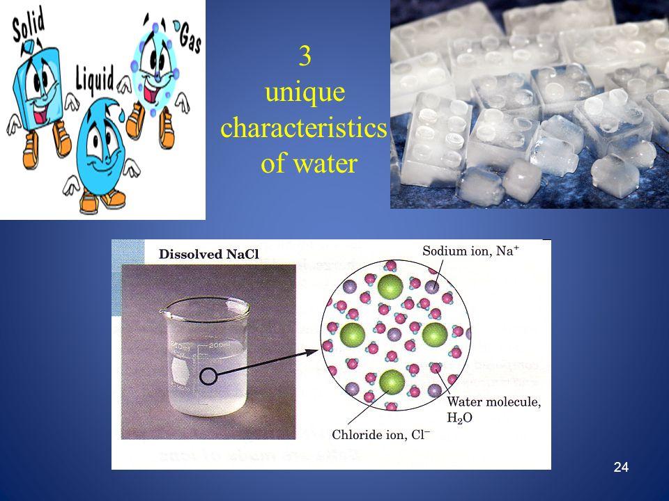 24 3 unique characteristics of water