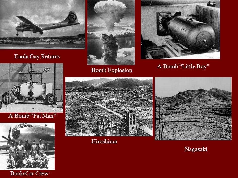 Enola Gay Returns Bomb Explosion A-Bomb Little Boy BocksCar Crew Hiroshima Nagasaki A-Bomb Fat Man