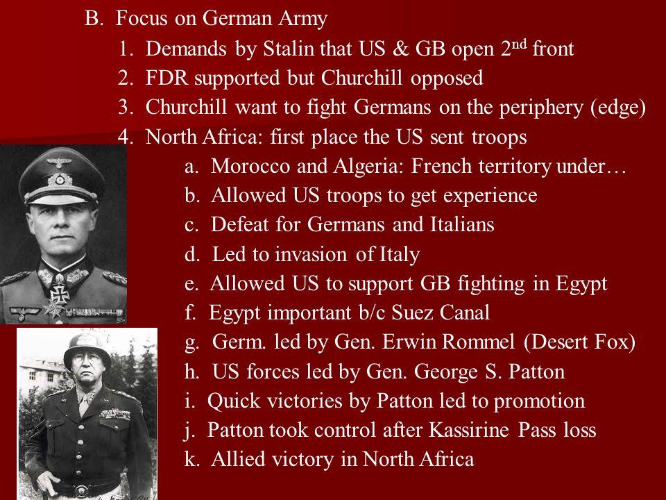 5.Battle of the Atlantic a. German submarines easy victory along east coast b.