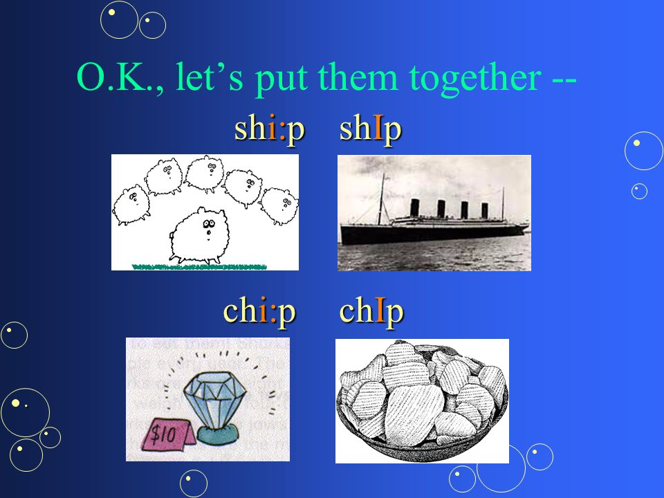 Now, practise the sound [I]Now, practise the sound [I] ship chip.