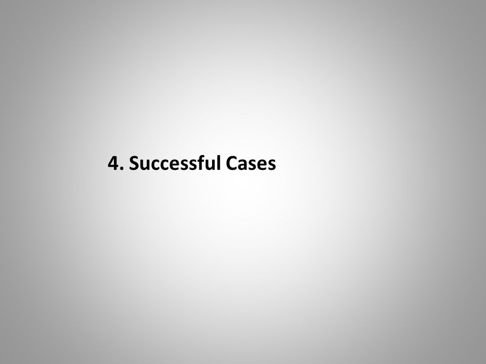 4. Successful Cases