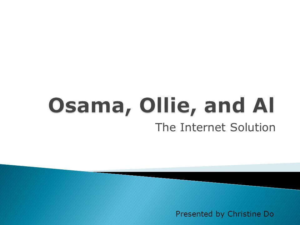 The Internet Solution Presented by Christine Do