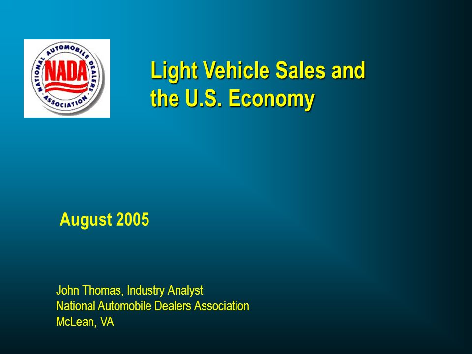 Light Vehicle Sales and the U.S.