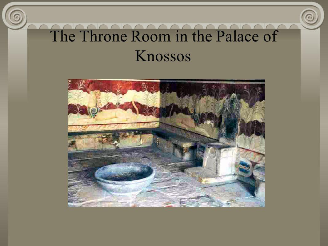 The Throne Room in the Palace of Knossos v