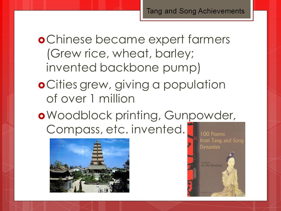 Age of Buddhism Many people donated land/money to temples Buddhism influenced art, literature, and architecture Lasted 400-845 Ended when Tang emperor launched campaign against religion