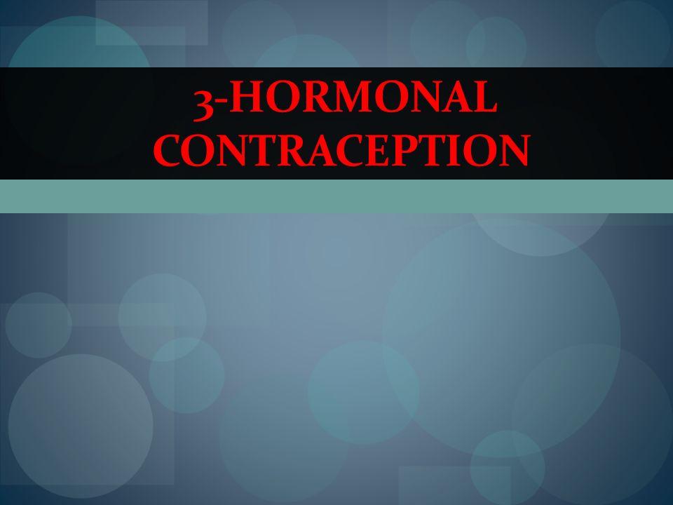 3-HORMONAL CONTRACEPTION