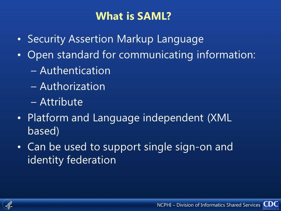What is SAML.