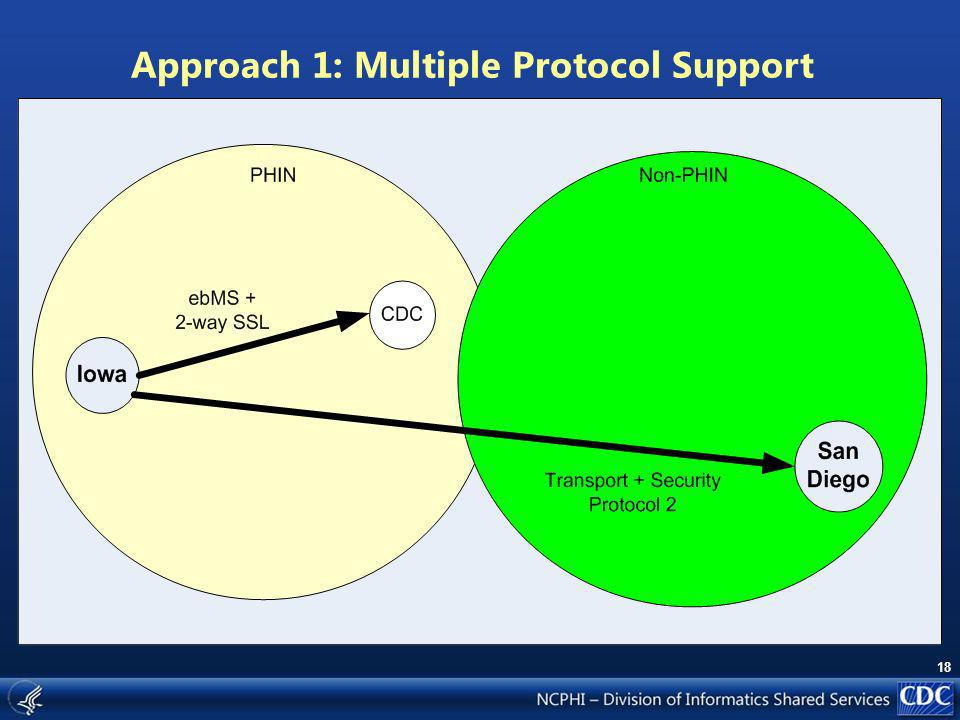18 Approach 1: Multiple Protocol Support