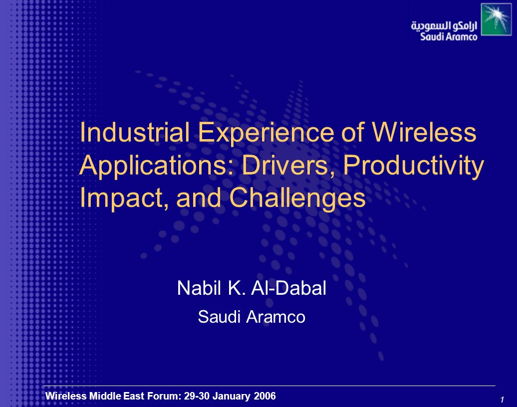 2 Wireless Middle East Forum: 29-30 January 2006 Shed light on the implementation of wireless technology, its business value and productivity impact Purpose