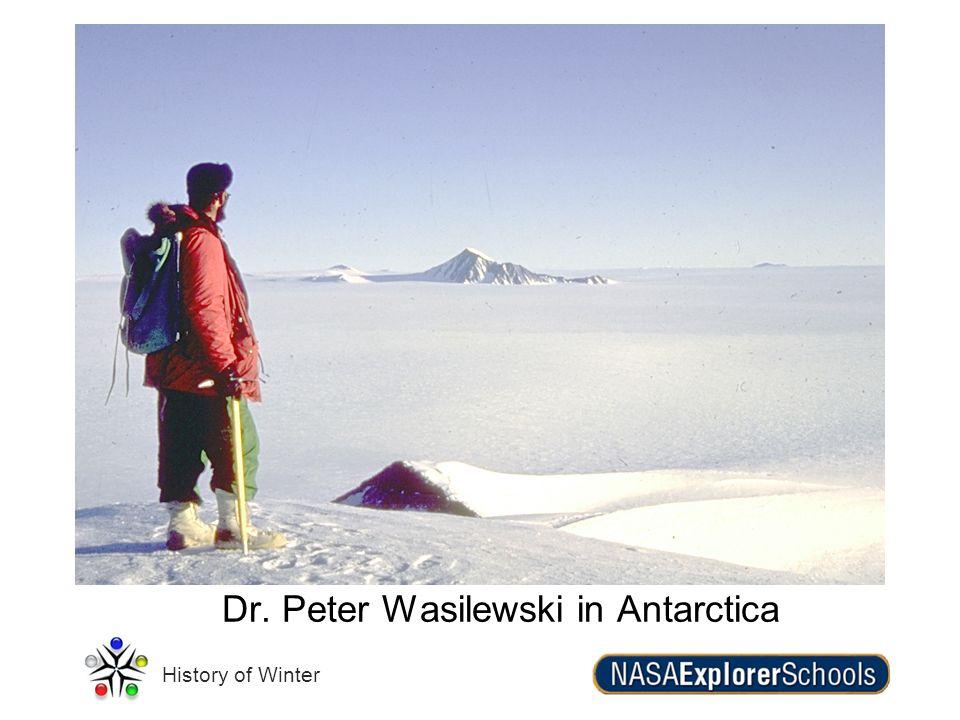 History of Winter Dr. Peter Wasilewski in Antarctica
