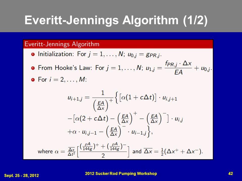 Everitt-Jennings Algorithm (1/2) Sept. 25 - 28, 2012 2012 Sucker Rod Pumping Workshop42