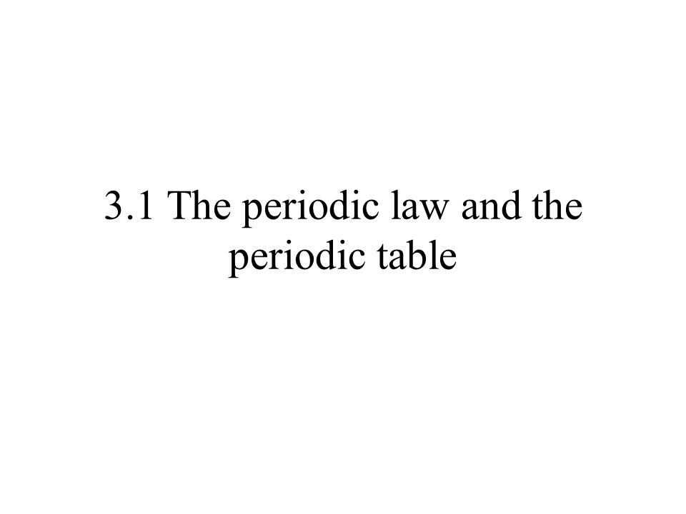 Early periodic tables 1817: Döbreiner s triads – 3 elements w/ regularly varying properties: S Se Te 1865: Newlands – law of octaves , about 55 elements Early tables were based on mass number (A) or combining weight