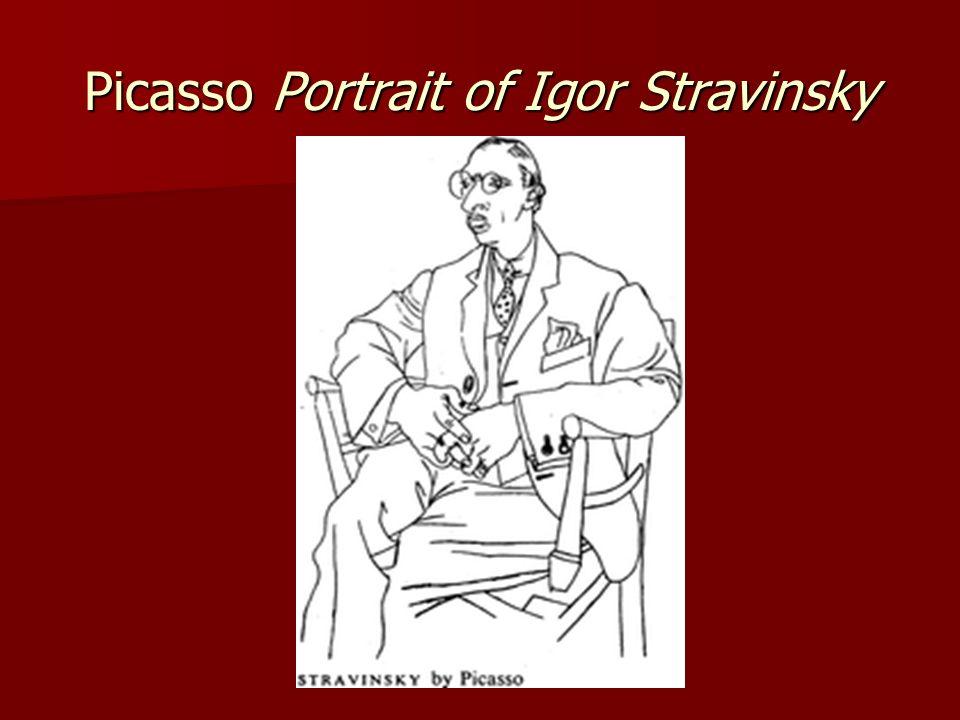 Picasso Portrait of Igor Stravinsky