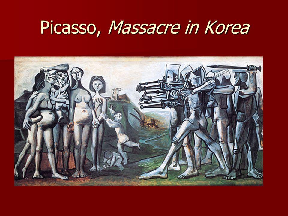 Picasso, Massacre in Korea