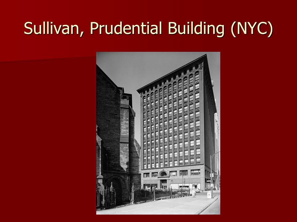 Sullivan, Prudential Building (NYC)