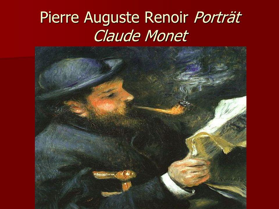 Pierre Auguste Renoir Porträt Claude Monet