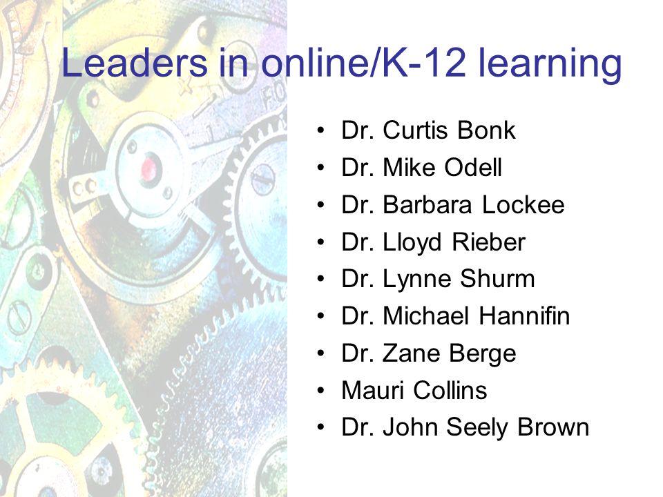Dr. Curtis Bonk Dr. Mike Odell Dr. Barbara Lockee Dr.
