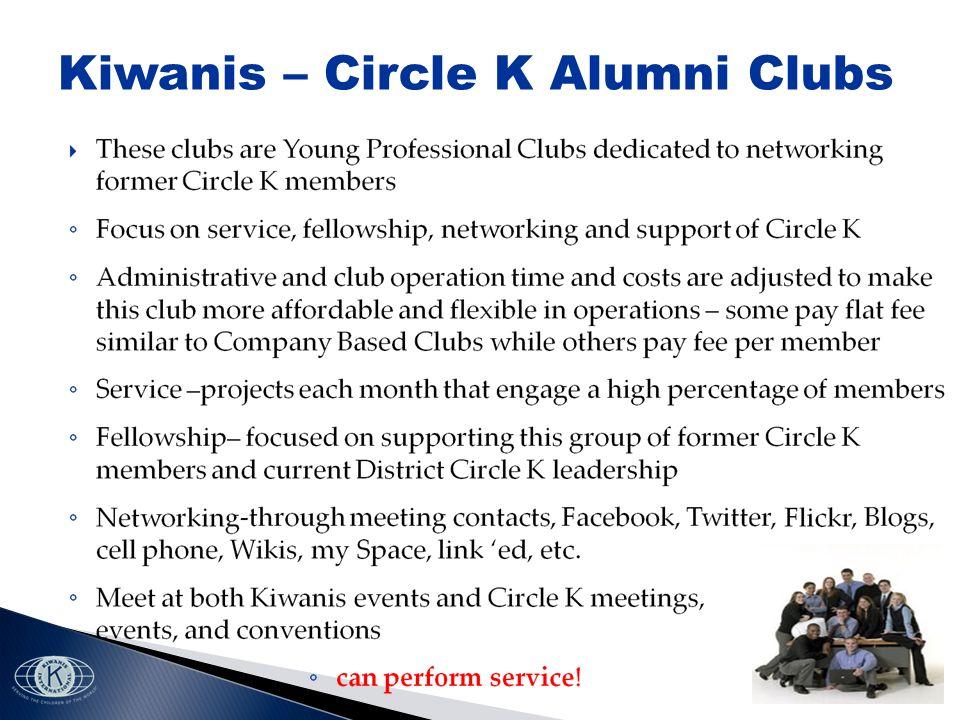 Kiwanis – Circle K Alumni Clubs
