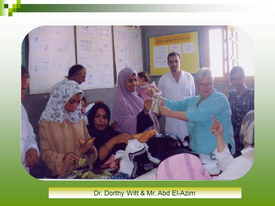 Dr. Dorthy Witt & Mr. Abd El-Azim
