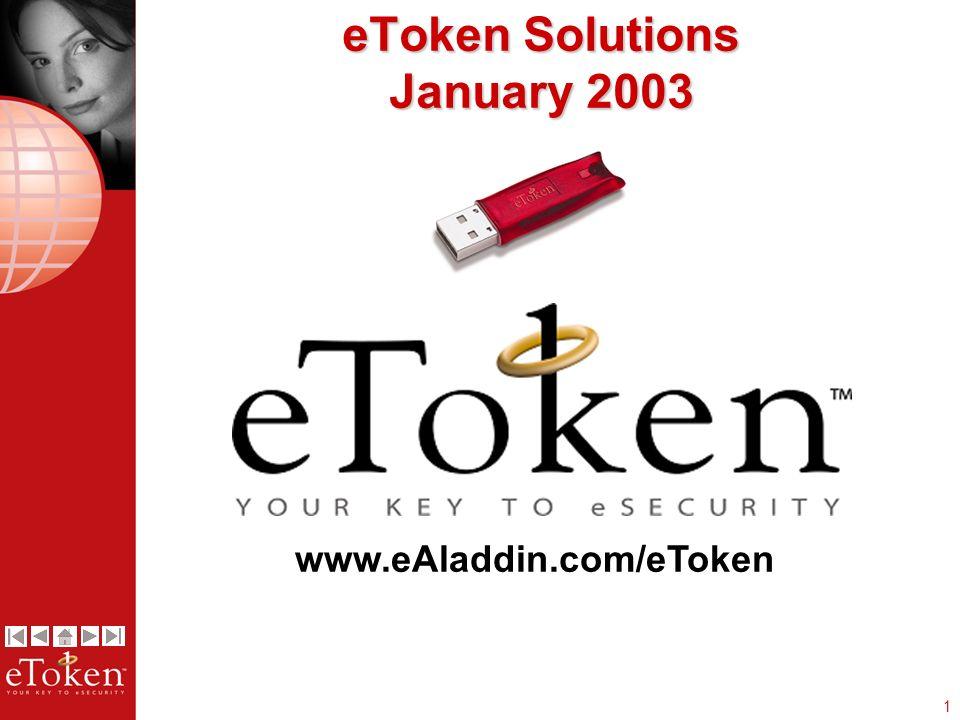 1 eToken Solutions January 2003 www.eAladdin.com/eToken