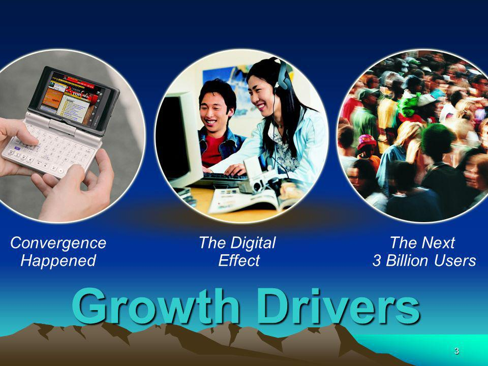 3 Growth Drivers Convergence Happened The Digital Effect The Next 3 Billion Users