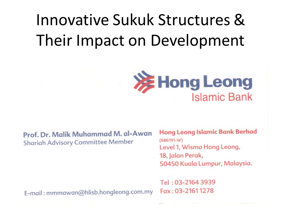 Outline Growing Role of Sukuk in Capital Markets Deepening of Primary & Secondary Sukuk Markets and Vehicles for Broader Public Participation Rationale for Purpose Driven & Objective Focused Sukuk Privatization Vehicle for Assets Backed Sukuk Institutional Needs & Public Welfare Goals Securitization of Privatization Assets Suggested Modeling of New Sukuk Structures