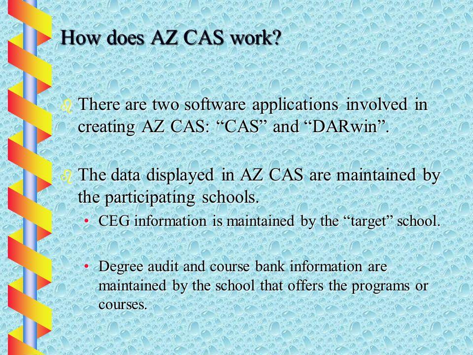 How does AZ CAS work.