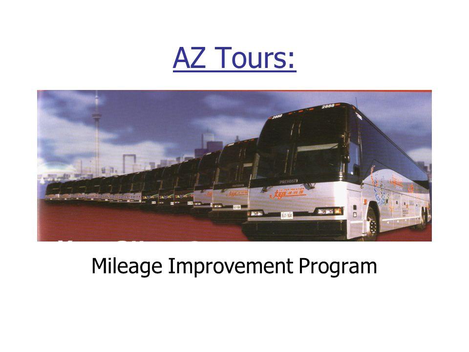 Mileage Improvement Program AZ Tours:
