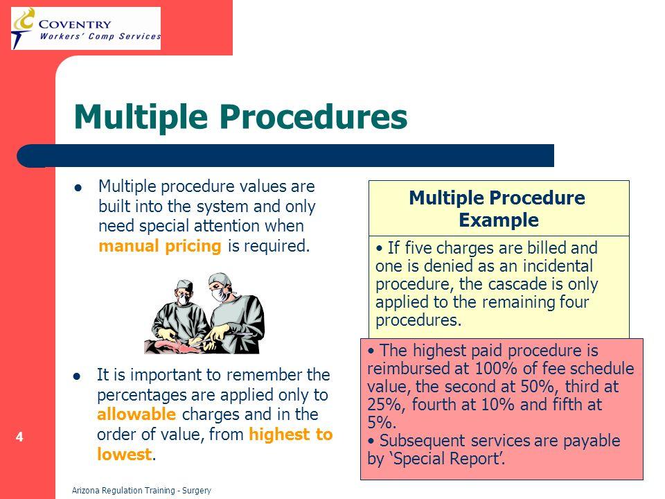 35 Arizona Regulation Training - Surgery Modifier 59 Example: Non-Reimbursable Example: Reimbursable 1.