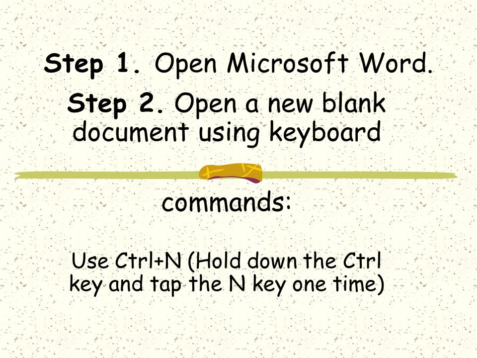 Step 1. Open Microsoft Word. Step 2.